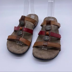 Taos Footwear Prize 3 straps leather sandals
